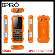 IPRO new waterproof shockproof dustproof IP67 2500mah big battery dual sIM outdoor latest projector rugged feature phone mobile