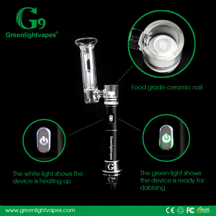 Greenlight newest innovative products 2016 enail dab g9 enail Henail portable enail kits manufacturer factory price