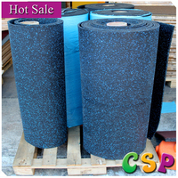 China colorful granules recycled rubber mat roll,thick rubber mat in roll