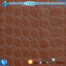 Classical brown color design embossed pvc synthetic leather for car interior