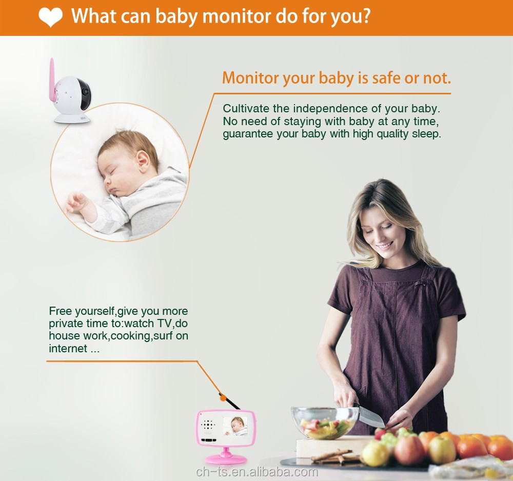 factory price 2.4 inch 2.4G wireless video baby monitor