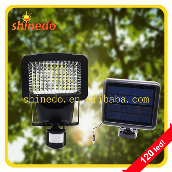 New Product 120 led Outdoor Solar Garden Wall Lamp with Motion Sensor
