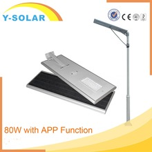 Y-SOLAR SL-80W-APP-L High Lumen Solar 100W Led Street Light ip65 Street Light Led for Highway and Road