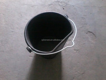 Rubber Flat Back Bucket with Metal Pail for horse