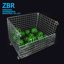 Galvanized Folding Wire Mesh Steel Storage Cage
