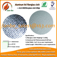 Aluminum foil feberglass cloth fireproof fabric