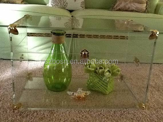 Hand Made High Transparent Acrylic Lucite Trunk For Sale