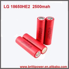 High capacity high drain he2 18650 rechargeable battery for toys