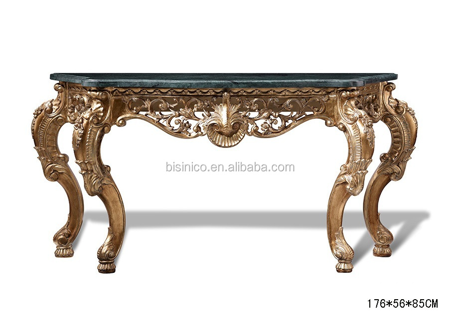 Antique Wood Carved Entry Hall Console Table, Traditional Hand Carved  Console Table, Home Decorative