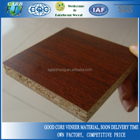 18mm Sapeli Faced Melamine Chipboard