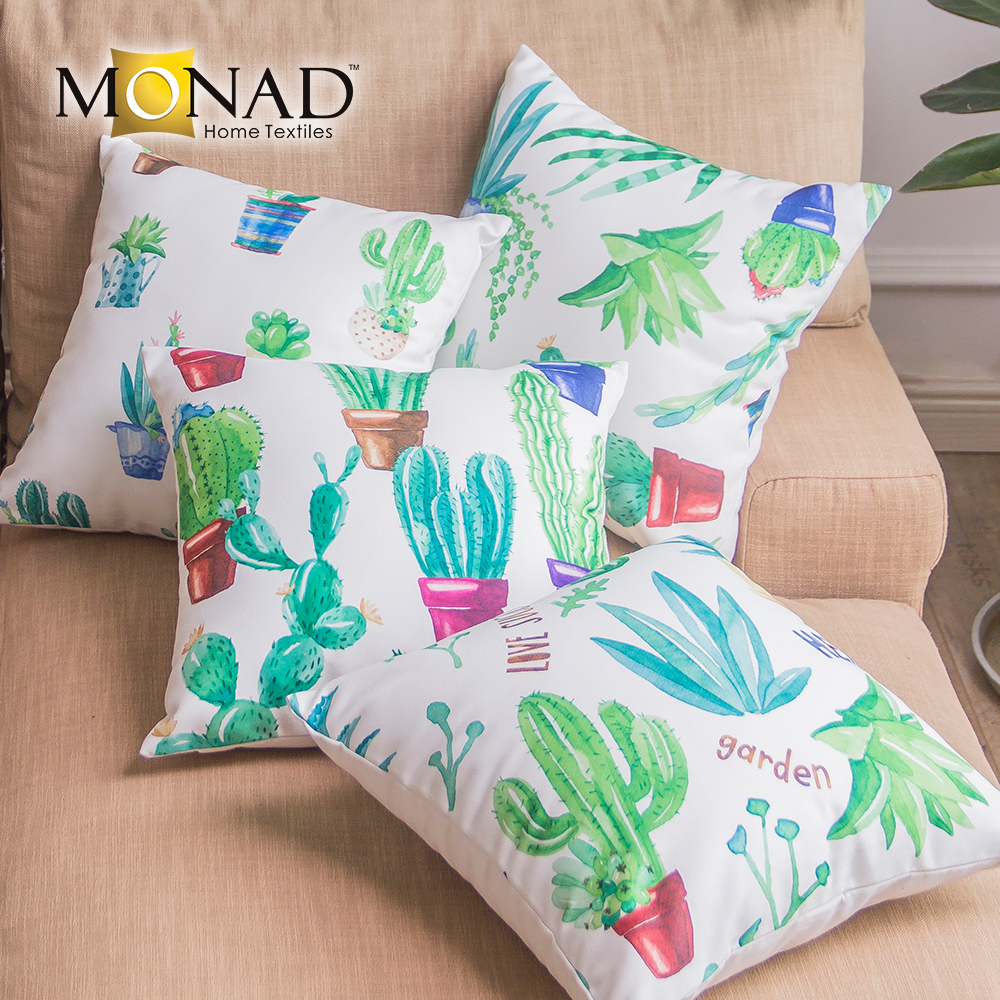 Modern Cactus Design Decorative Car Seat Throw Pillow Custom Printed Cushions