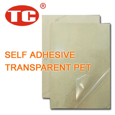 Self Adhesive Transparent Polyester Film 50 Microns