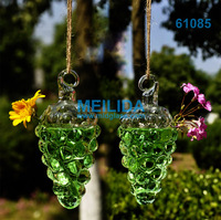 Vintage Glass small unique hanging glass vases