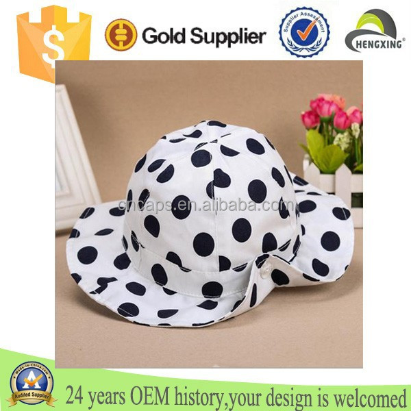 2015 High Quality Custom Floral Cotton Printed Bucket Hat/Caps For Children