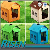 Low price wholesale waterproof pp coroplast dog plastic box house