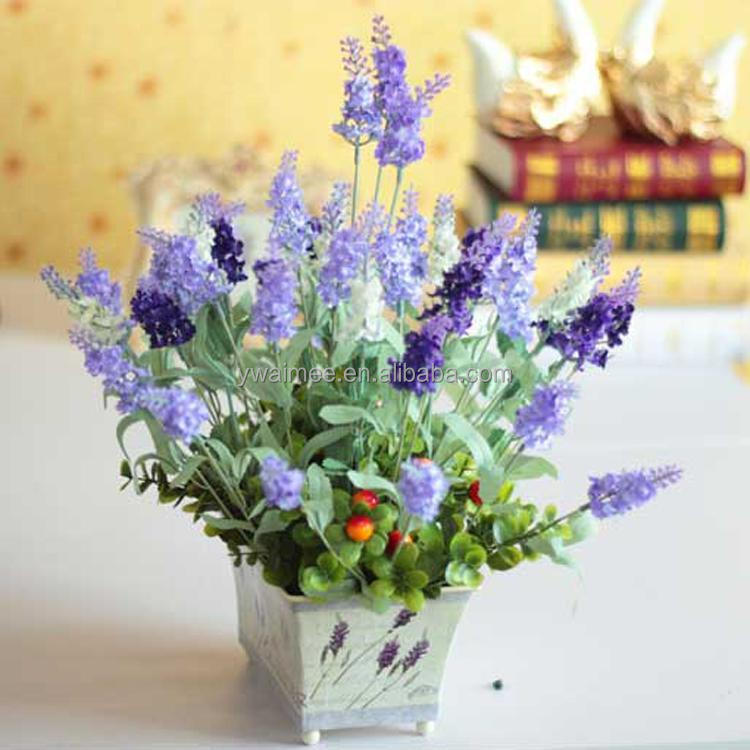 Wholesale artificial blue hydrangea lavender flowers( AM-884343)