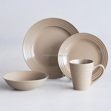 16pcs ceramic dinner set in chocolate color