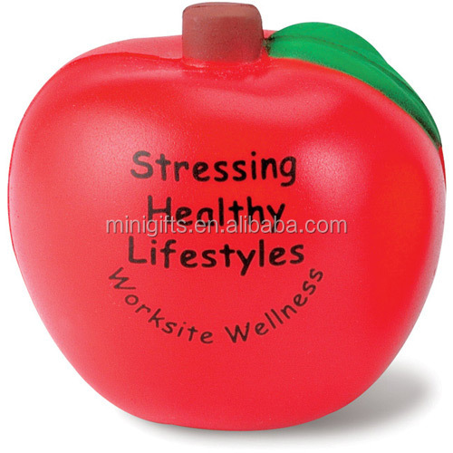 promotional apple pu antistress toy