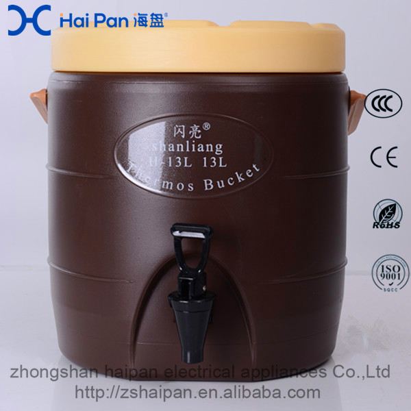 Portable commercial plastic H-13L Insulation Coffee Barrel thermos bucket keep warm and cold Insulated Plastic Barrel