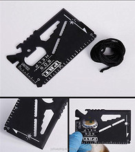 Professional multifunctional mini survive credit card knife for survival kit camping rescue equipment