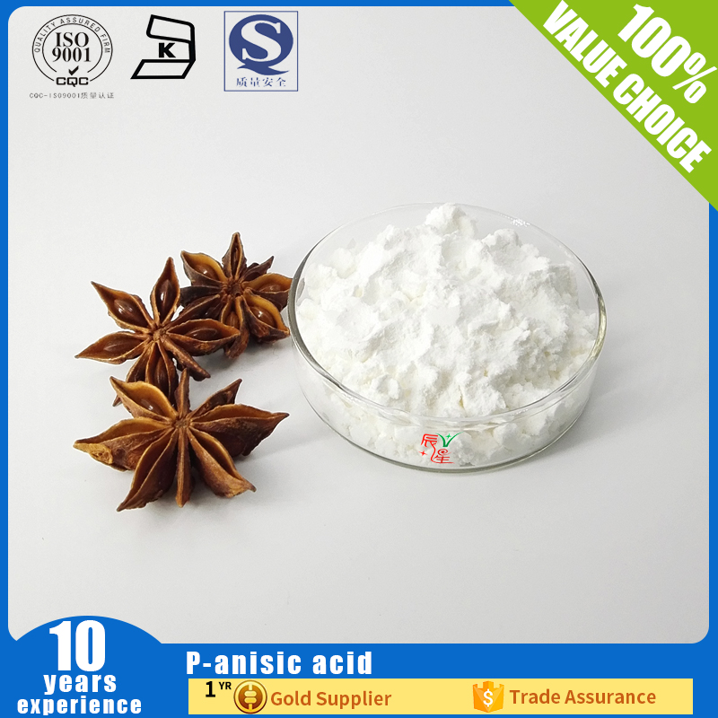P-anisic acid for Natural cosmetic preservative CAS 100-09-4