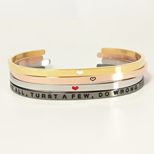 Inspirational Saying Friendship Custom Stainless Steel Engraved Bracelets Wholesale