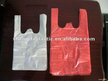 HDPE/LDPE Colored t-thirt bags