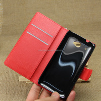 Litchi Pattern Soft Wallet Stand Leather Case For HTC Desire 601