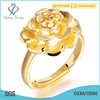 Wholesale Price indian costume jewellery 18K gold plated wedding ring