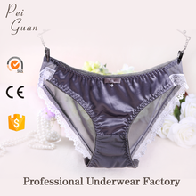 2018 factory plus size undergarments soft young girls women satin panties lady underwear