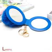 New Wholesale Rico Design Fashion Style Imitate Faux Fur Pom Pom Bag Charm Key Chain for Car Key Ring or Bag