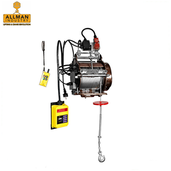 ALLMAN cable sling type lifting hoist wireless remote control 220V single phase Mini electric Cable Winch