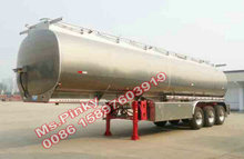 2 / 3 axle Aluminum Alloy Tank Semi Trailer for fuel,oil,water,liquid Chemical