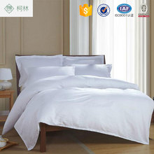 Wholesale four seasons luxury comfortable satin white hotel linen bedding sets