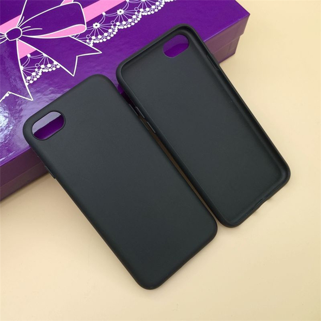 For iPhone 8 7 8 plus 7 plus TPU black phone case with camera calculator keyboard designs custom printed phone case