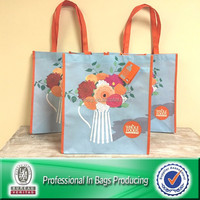 Lead Free Sublimation Printed 100% Post-consumer Plastic Bottles Recycled PET Shop Bag
