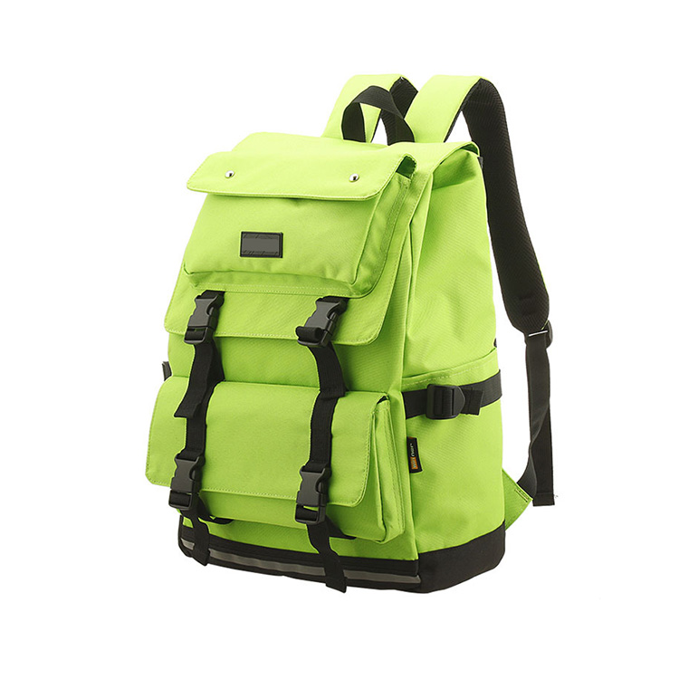 1BP0502 Large Capacity Waterproof Kids Outdoor Travel Bag Green Fashion School Laptop Backpack