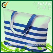 canvas water black blue and white stripe shopping striped tote bag sale personalised