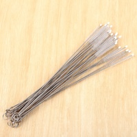 Durable Straw Cleaning Brush Stainless Steel Wash Drinking Pipe Straw Brushes Brush Cleaner
