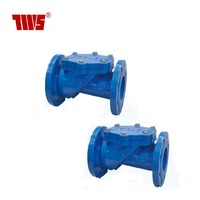 Ductile Iron Flange Connection EN1092 PN10/16 Rubber Seated Swing Check Valve