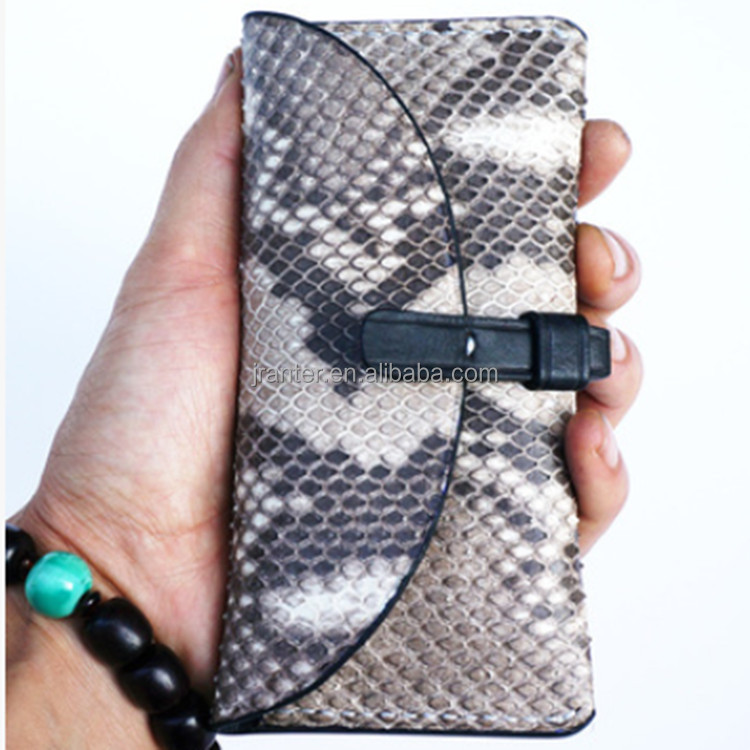 100% Authentic Python Snakeskin for Iphone 6 Plus Wallet Leather Case
