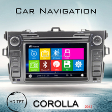 7 inch touch screen 2 din in dash car dvd player for toyota corolla verso with bluetooth ipod swc