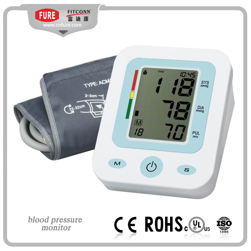 Easy Operated Blood Pressure Monitor With Backlight, support OEM