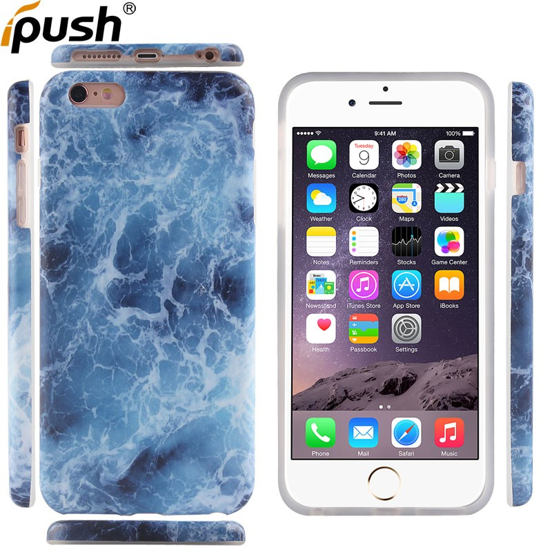 Latest Design Hot Selling IMD Marble TPU Cell Phone Cover Case for iPhone 6plus Marble Case