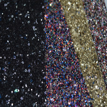 covered shiny glitter synthetic pu leather material for women shoes, bags