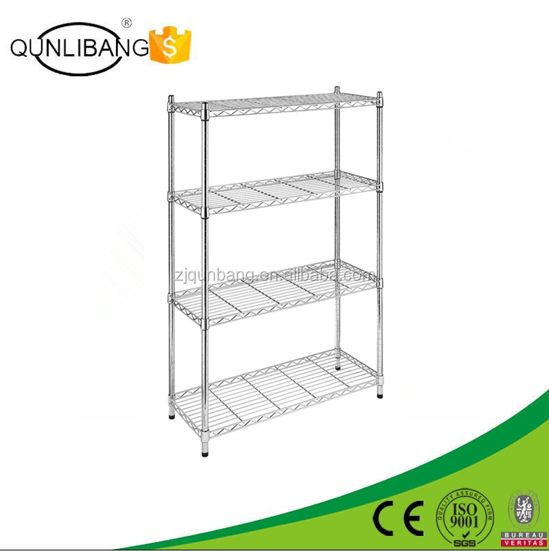 4-Tier Chrome Shelving Unit/Storage Display Stand