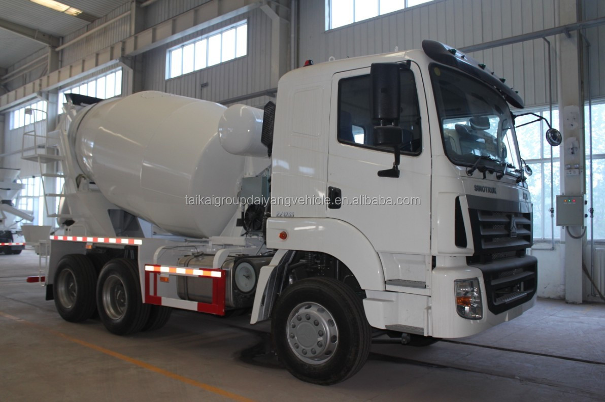2015 high performance self loading cement concrete mixer truck for sale