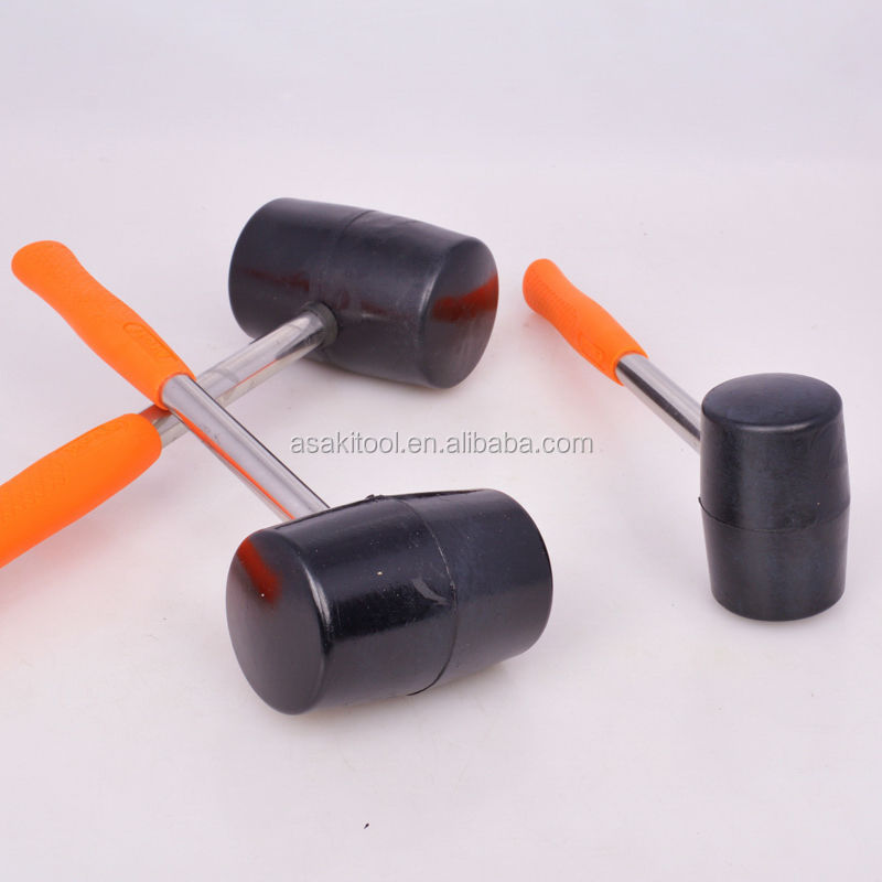 ASAKI Black Rubber hammer Tile Rubber Mallet sizes