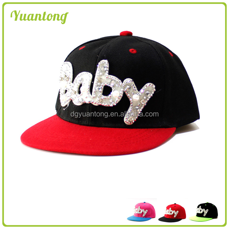 2017 Manufacture Snapback Cap 3Dembroidered Logo Kids Hats for gift