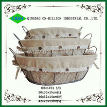 2014 new cheap small decorative iron basket